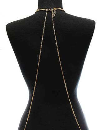 Destinees gold BODY CHAIN METAL CHAIN NECKLACE