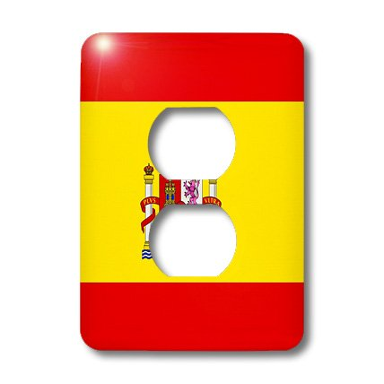 3dRose lsp_28285_6 Spain Flag 2 Plug Outlet Cover by 3dRose