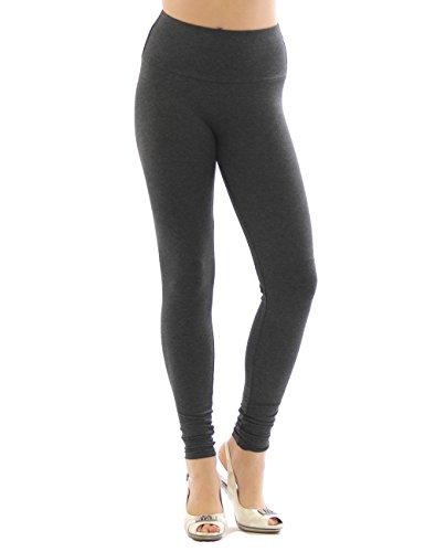 YESET Femme Leggings pantalon long leggings en coton Taille haute GRIS FONCÉ XXXL