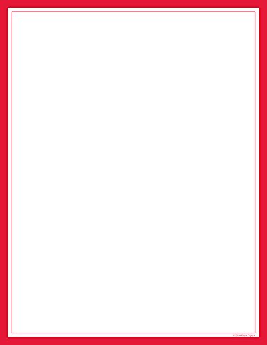 "Great Papers! Red Border Letterhead, 8.5""x11"", 80 Count (2014018)"
