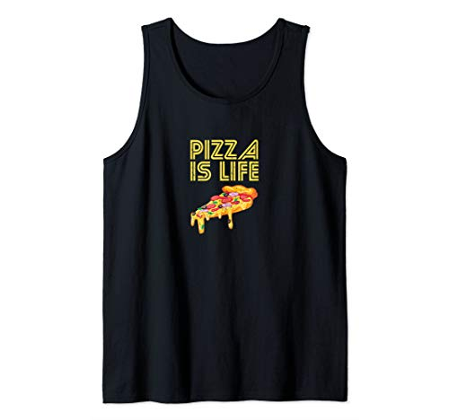 Pizza  Is Life Foodie Gift Italian Cuisine Lover Gift  Tank Top