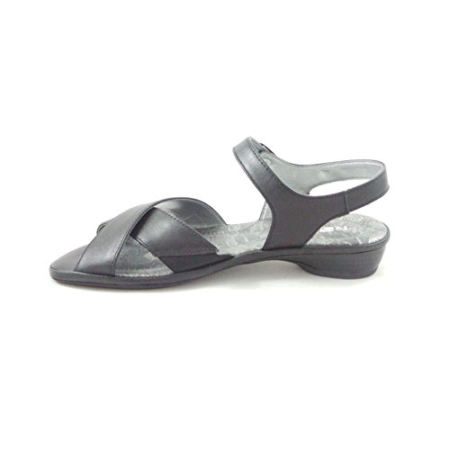 Rohde schwarz Leder Offene Sandale