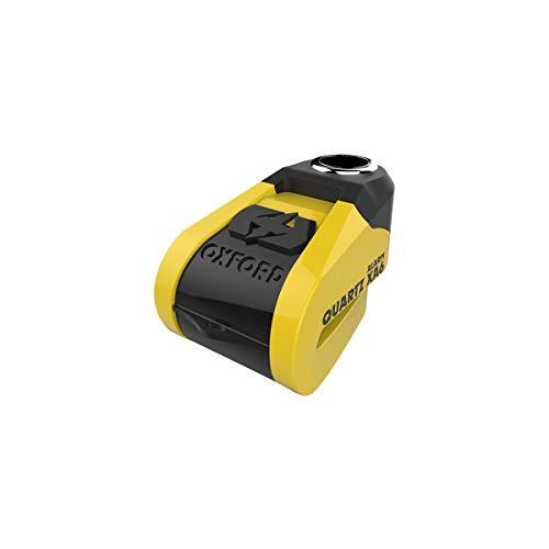 Oxford LK270, Quartz XA schijfslot en 110 dB XA6 alarmgeluid, geel zwart. Oplaadbare batterij.