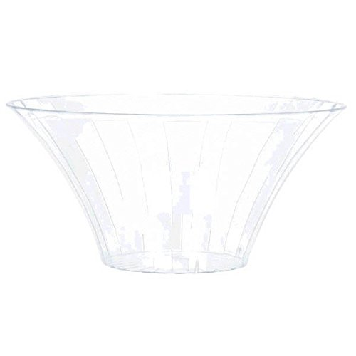 Amscan 1 Count 7'' Flared Bowl, Medium, Clear