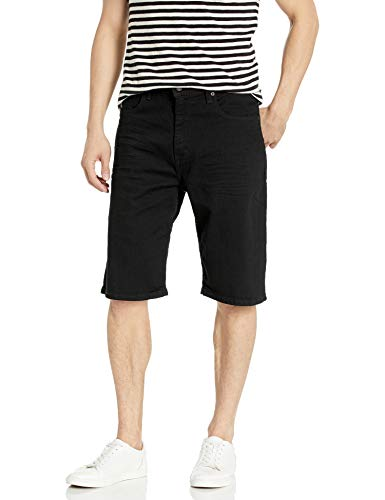 Levi's Men's 569 Loose Straight Denim Short, Black - Black Dye - Stretch, 38
