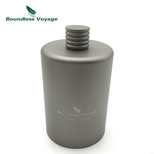 TJBGADIEMS Boundless-Voyage Titanium Pocket Flagon Camping Portable Alcohol Drink Bottle Outdoor Sport Hip 200ml Wine Flask(1Q)