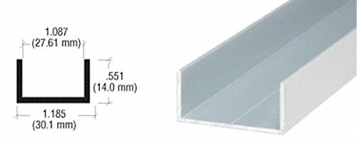 CRL Satin Anodized 1-1/6'' U-Channel - 12 ft Long by CRL