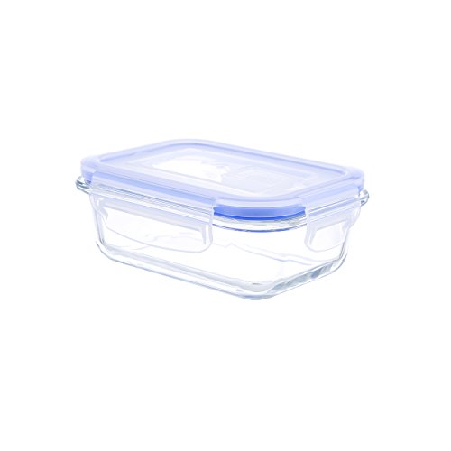 Kinetic Go Green Glassworks Elements Series 12-Ounce Rectangular Food Storage Container with Vented Lid - Go Green Set Glasslock