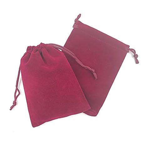 SMHILY 50 unids/Lote Vino Red Velvet Drawable Bag 7x9cm ...