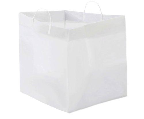 GloPack 4CTBAG White Catering Plastic Bag, 18'' x 17'' x 18'' x 17'', 100 per case by Glopack