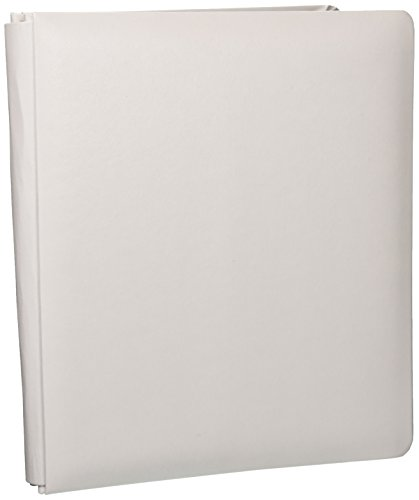 (Pioneer Photo Albums 20-Page Family Treasures Deluxe White Bonded Leather Cover Scrapbook for 8.5 x 11-Inch Pages)