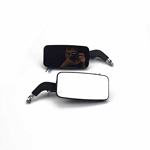 Black Motorcycle Mirrors With Turn Signals - 7