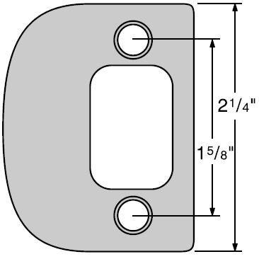 Kwikset 84638 2-1/4'' Full Lip Strike Plate, Satin Nickel