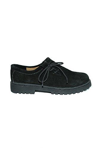 trachtenhandel lacets pour à Noir Chaussures Noir homme ville de r7yqrAO