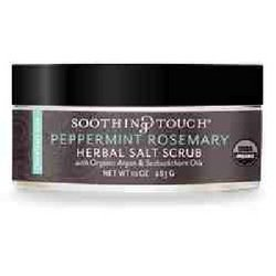 Soothing Touch Scrub Organic Salt Herbal, Peppermint Rosemary, 10 Ounce (Salt Scrub Soothing Touch)