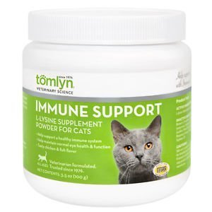 Tomlyn L-Lysine Sprinkle Powder Support Healthy Immune System for Cats and Kittens 100g by Tom Lyn