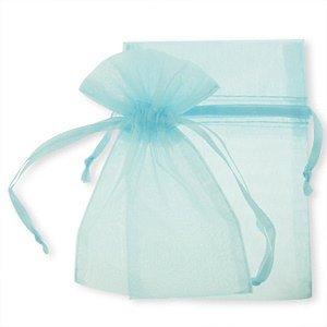 25 light blue jewelry wedding organza bags 18 x 24 CM Large joydiy