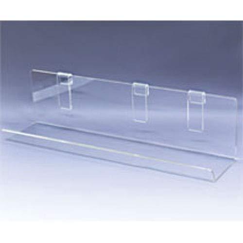 Acrylic Grid Shelf with 23 1/2 W x 5 D Inch with 2 1/2 Inch Lip