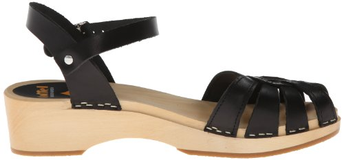 Swedish Hasbeens Cross Strap Debutant, Zoccoli Donna nero