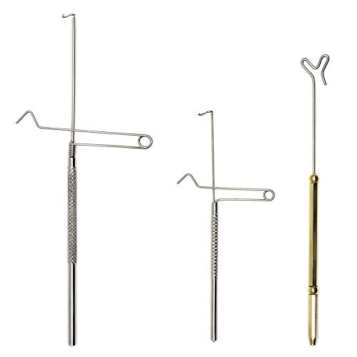 XFISHMAN Rotatable Whip Finisher 3 Pcs Standard\Extended Reach\Springo for Fly Tying Flies
