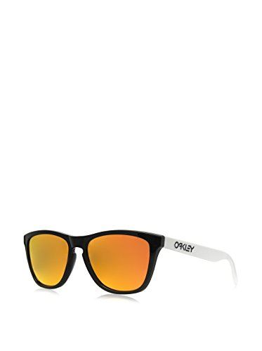 Oakley Unisex Heritage Frogskins Sunglasses, Black/Fire Iridium, One Size