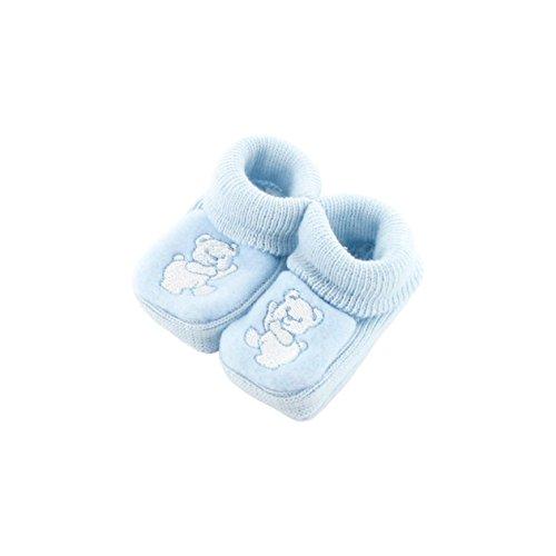 zapatitos de bebé 0-3 meses Azul - Dancing patrón del oso
