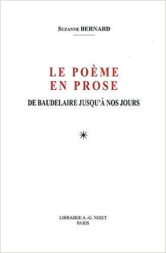 Le Poeme En Prose De Baudelaire Jusqua Nos Jours Nizet