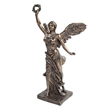 (PTC 12.75 Inch Bronze Colored Winged Victory Reconstructed Figurine)