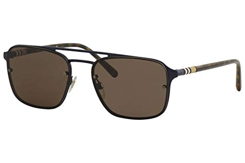 Burberry Men's 0BE3095 Matte Blue/Havana/Brown One Size (Burberry Sonnenbrillen Damen)
