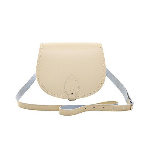 Zatchels - Borsa in Pelle Fatta a Mano - Colori Pastello - Saddle Bag British Made - Donna Crema