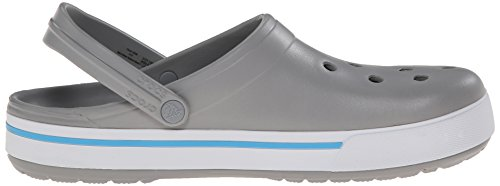 crocs Cband2.5Clog Lgr/Ebl M4/W6 - Zuecos de goma para hombre Grigio (Light Grey/Electric Blue)