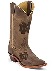 Nocona LDND11 Womens University Of Notre Dame Brown Branded College Boots