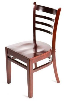 - Oak Street Manufacturing WC101MH Solid Mahogany Wood Frame Ladderback Dining Chair with Mahogany Wood Seat, 18