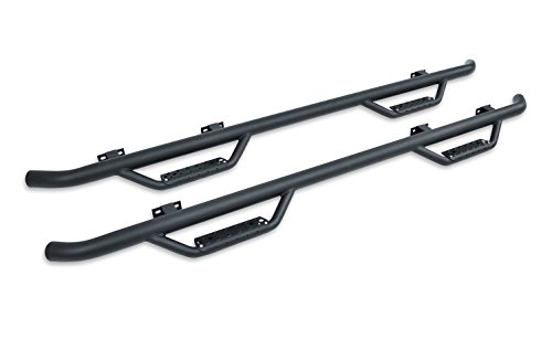 Go Rhino D24429T Black Textured Dominator D2 Sidestep for Toyota (Double Cab Length, Pair) ()