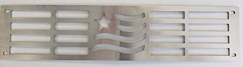 - Mountains2Metal 2015-2019 Chevy Silverado 2500 3500 HD Merica Edition Brushed Stainless Steel Bumper Grille Insert