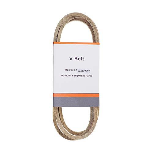 Parts Club 532130969 Lawn Mower Deck Drive Belt Replaces Husqvarna Poulan AYP Craftsman John Deere 130969 V-Belt 1/2 x 92 Kevlar Belt (69 X 92 Model)