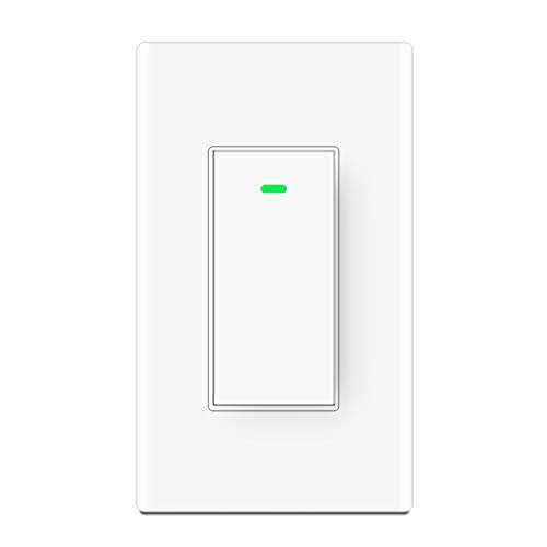 Smart Wifi Light Switch,Wireless Remote Control, Neutral Wire Required,Compatible with Amazon Alexa,Google Home, IFTTT, Physical Button