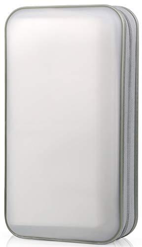 CD Case, COOFIT 80 Capacity DVD Storage DVD Case VCD Wallets Storage Organizer Flexible Plastic Protective DVD Storage White