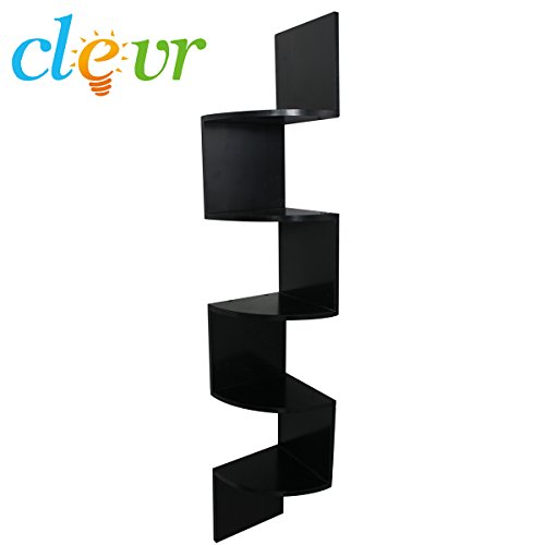 Review 5 Tier 4ft Corner Wall Mount Shelf Zig Zag Decor By Clevr by Clevr