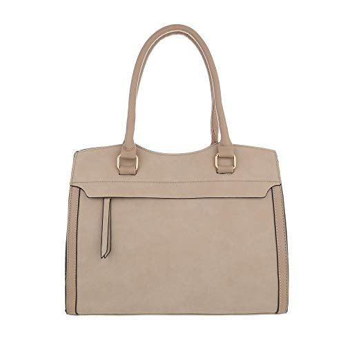 Design Bolso de mujer al Sintético Ital Beige Size beige para marrón hombro One daIqO5