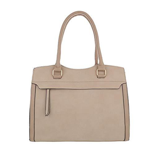 Bolso hombro para Design Beige Size beige al mujer Ital de One marrón Sintético 1w5xWBqtq6
