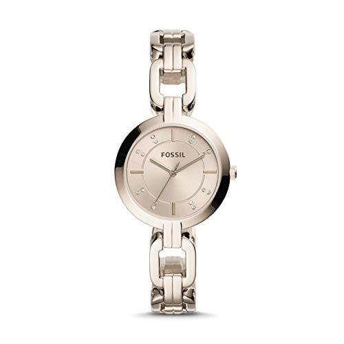(Fossil Kerrigan Three-Hand Pastel Pink Stainless Steel Watch BQ3467)