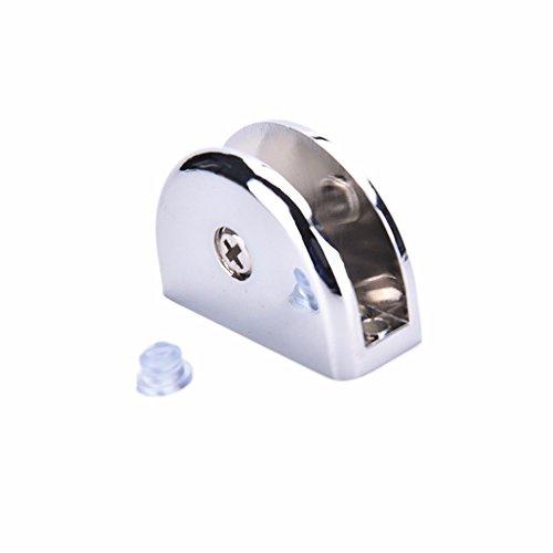 VT BigHome 1PCS Silver 6-8MM Zinc Alloy Semicircle Clamp Holder Clip Glass Shelf Handrail Glass Clamps
