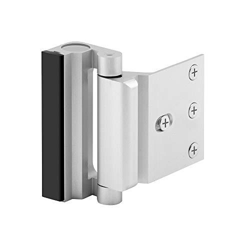 Home Security Door Lock, Upgrade Easy Open Childproof Door Reinforcement Lock with 3″ Stop Withstand 800 lbs for Inward Swinging Door, Nightlock Deadbolt Defend Your Home (Silver)