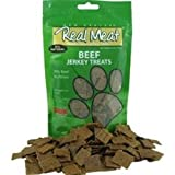THE REAL MEAT COMPANY 828038 Dog Jerky Beef Strips Treat, Long, 8-Ounce For Sale