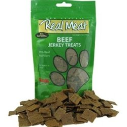 THE REAL MEAT COMPANY 828038 Dog Jerky Beef Strips Treat, Long, 8-Ounce