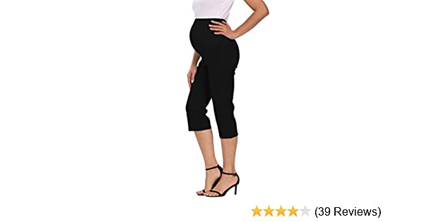 Foucome Maternity Womens Flare Leg Lounge Pants Stretch High Waist Pregnancy Capris All Day Comfort