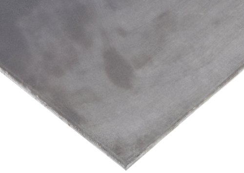 A36 Steel Sheet, Unpolished (Mill) Finish, Hot Rolled, ASTM A36, 0.25'' Thickness, 24'' Width, 48'' Length by Small Parts