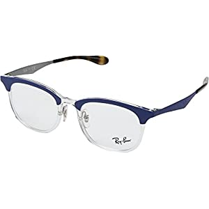 Ray-Ban Unisex 0RX7112 51mm Transparent/Shiny Blue One Size