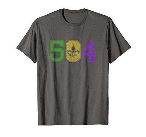 Mardi Gras 504 T Shirt Nola New Orleans Louisiana LA 2019